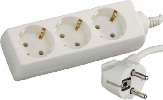 Удлинитель СВЕТОЗАР электрический с заземлением, евро, 3 гнезда, 5м звонок электрический с кнопкой светозар аккорд 58036