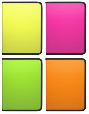 Папка на молнии пластиковая ERICH KRAUSE Glance Neon, A4, цвет ассорти, 43032
