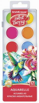 Краски акварельные ERICH KRAUSE Artberry, 12 цветов, медовые, без кисти, пластиковая коробка, 41724 printio акварельные краски