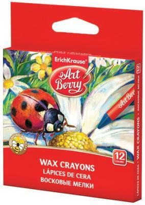 Восковые мелки ERICH KRAUSE, 12 цветов, картонная упаковка с европодвесом, 34930 erich krause 12 цветов принцесса софия 35016ek