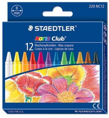 Восковые мелки Staedtler Noris Club 12 цветов 12 штук все цены