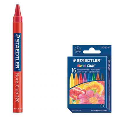 Восковые мелки Staedtler Noris Club 16 цветов 16 штук все цены