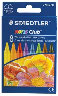 Восковые мелки Staedtler Noris Club 8 цветов 8 штук восковые карандаши kuso k10066 8 штук 8 цветов от 1 года