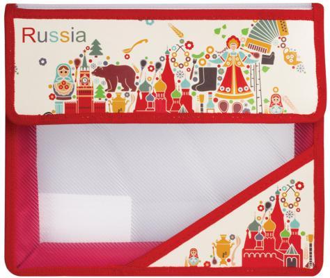 Купить Папка для тетрадей, А5, пластиковая на липучке, с рисунком на уголке, Россия , 226561, ТОП-СПИН, рисунок, Пеналы и папки