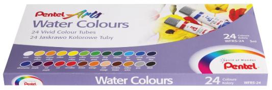 Краски акварельные PENTEL Water Colours 24 цвета