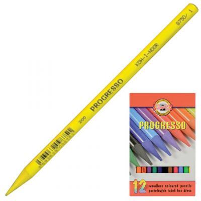Набор цветных карандашей Koh-i-Noor Progresso 12 шт набор угольных карандашей koh i noor gioconda 3 шт