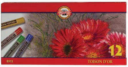 Пастель сухая художественная KOH-I-NOOR Toison D'or, 12 цветов, круглое сечение, 8512012004SV карандаш чернографитный koh i noor toison d or 1970 h 1970 h