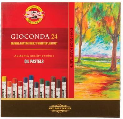 """Пастель масляная художественная KOH-I-NOOR """"Gioconda"""", 24 цвета, круглое сечение, 8354024001KS цена"""