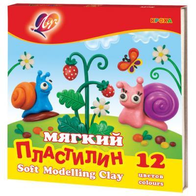Набор пластилина ЛУЧ Кроха 12 цветов пластилин луч кроха 5 цветов 25с1557 08
