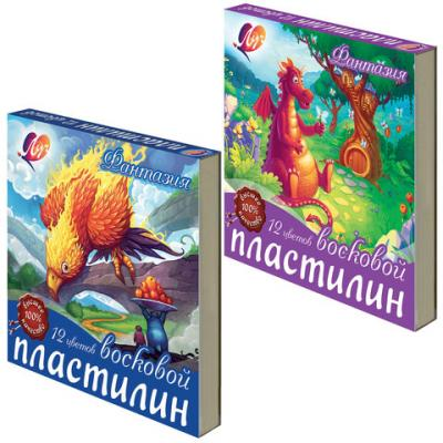 Пластилин ЛУЧ Фантазия 12 цветов