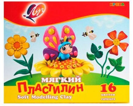 Набор пластилина ЛУЧ Кроха 16 цветов пластилин луч кроха 5 цветов 25с1557 08