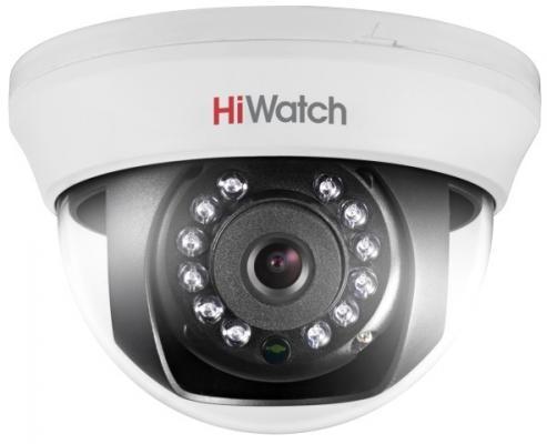 Камера видеонаблюдения Hikvision HiWatch DS-T201 6-6мм HD TVI цветная корп.:белый проводная ip камера hikvision ds 2cd2t22wd i8 6 6мм
