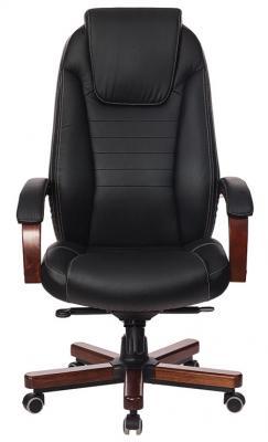купить Кресло руководителя Бюрократ T-9923WALNUT/BLACK черный кожа крестовина дерево по цене 18590 рублей