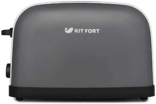 Тостер KITFORT КТ-2014- 6 графитовый серебристый