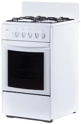 Плита Газовая Flama RG 24035 W белый (без крышки) реш.эмаль цена и фото