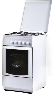 Плита Газовая Flama FG 24023 W белый (металлическая крышка) реш.эмаль газовая плита flama fg 24023 w газовая духовка белый