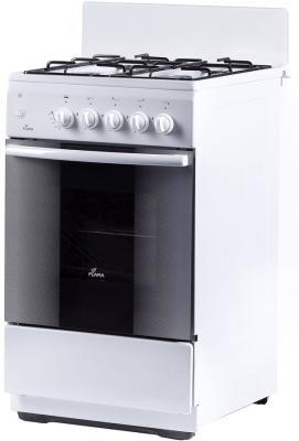 Плита Комбинированная Flama AK 1416 W белый (без крышки) реш.эмаль