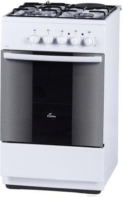 Плита Комбинированная Flama RK 23-105 W белый (без крышки) реш.эмаль электрическая плита flama 33606 w