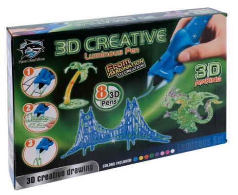Набор детских 3D-ручек (8 шт.), светящиеся чернила (Y8808-2: FITFUN TOYS)