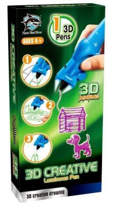 3D-ручка детская, светящиеся чернила, цвет фиолетовый (Y8801-1C: FITFUN TOYS)