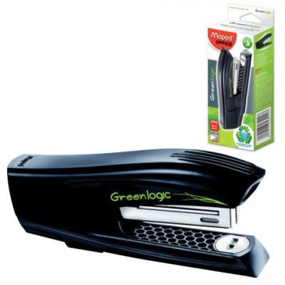 Степлер MAPED (Франция) Greenlogic, №24/6-26/6, до 25 листов, черный, 353411 maped степлер advanced 24 6 26 6