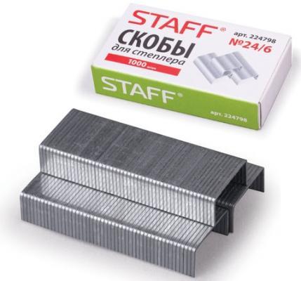Фото - Скобы для степлера STAFF № 24/6 1000 шт скобы для степлера staff 10 1000 шт