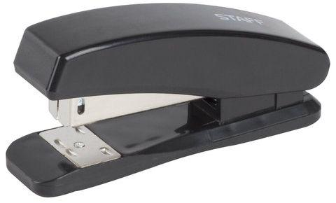 Степлер STAFF, №24/6, до 20 листов, пластиковый корпус, металлический механизм, черный, 224626 степлер index ims310 gy 20 листов