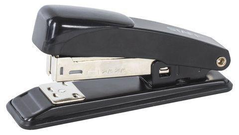 Степлер STAFF, №24/6, до 20 листов, металлический корпус, металлический механизм, черный, 224627 степлер index ims310 gy 20 листов
