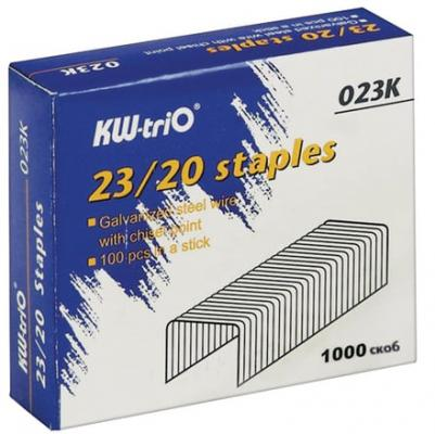 Скобы для степлера KW-trio №23/20 1000 шт скобы для степлера 23 15 kw trio 023f упаковка 1000 шт