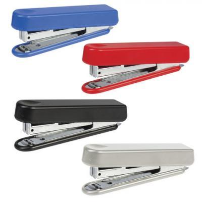 Степлер KW-trio N10, до 12 листов, эргономичный, ассорти (черный, красный, синий, светло-серый), -5101 степлер kw trio 5220blu n10 10листов синий 100скоб металл пластик