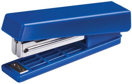 Степлер KW-trio N10, до 12 листов, ассорти (черный, красный, синий, светло-серый), -5280 степлер kw trio 5220blu n10 10листов синий 100скоб металл пластик