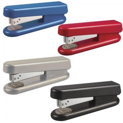 Степлер KW-trio №24/6, до 20 листов, эргономичный, ассорти (черный, синий, красный, светло-серый), -5870 степлер kw trio 5220blu n10 10листов синий 100скоб металл пластик