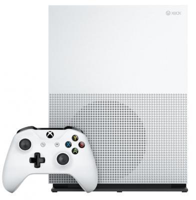 Игровая консоль Microsoft Xbox One S белый в комплекте: игра: Anthem цена и фото