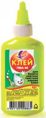 Клей ПВА-М ЛУЧ (бумага, картон, кожа, ткань, дерево), 85 г, 20С1353-08 цена в Москве и Питере