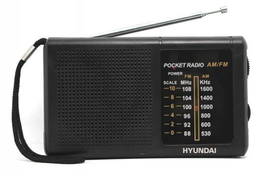 Радиоприемник портативный Hyundai H-PSR130 черный цена и фото