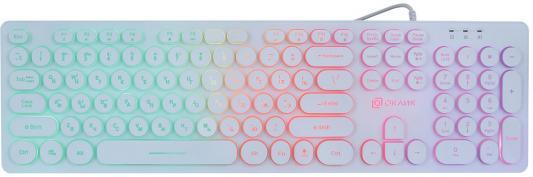 Фото - Клавиатура проводная Oklick 420MRL USB белый клавиатура проводная hama verano usb белый r1053931