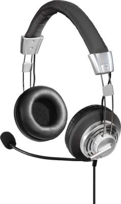 Наушники с микрофоном Hama Style черный/серый 2м мониторы оголовье (00139914) все цены