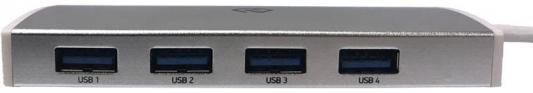 Разветвитель USB Type-C Digma HUB-4U3.0-UC-S 4 х USB 3.0 серебристый разветвитель digma dcn 12p2