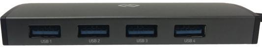 Разветвитель USB Type-C Digma HUB-4U3.0-UC-G 4 х USB 3.0 серый разветвитель usb type c digma hub 7u2 0 uc b 7 x usb 2 0 черный