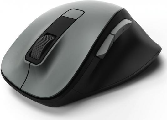 цена на Мышь беспроводная HAMA MW-500 чёрный серый USB 00182633