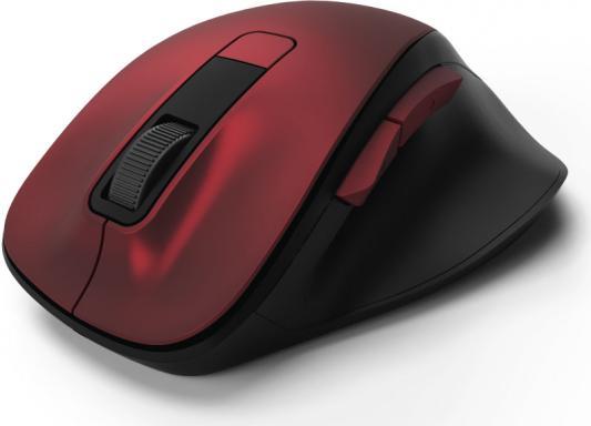 Мышь беспроводная HAMA MW-500 чёрный красный USB 00182634