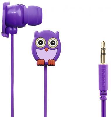 цена Наушники HAMA Owl фиолетовый 00177024 онлайн в 2017 году