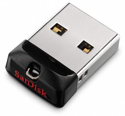 Флешка 16Gb SanDisk Cruzer Fit USB 2.0 черный SDCZ33-016G-G35 флешка 16гб sandisk cruzer glide usb 3 0 sdcz600 016g g35