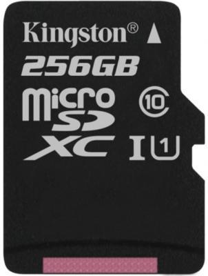 Флеш карта microSDXC 256Gb Class10 Kingston SDCS/256GBSP Canvas Select w/o adapter флеш карта microsdxc 256gb class10 kingston sdcs 256gb adapter