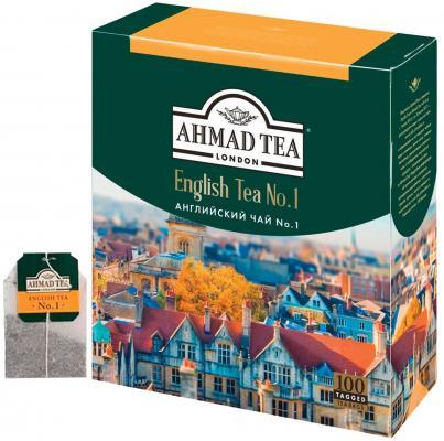 Чай AHMAD (Ахмад) English Tea №1, черный, 100 пакетиков с ярлычками по 2 г, 598-012 ahmad tea english tea no 1 черный чай в пакетиках с ярлычками в конвертах из фольги 25 шт