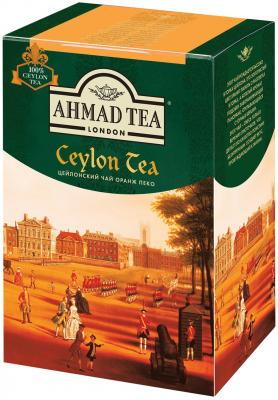 Чай AHMAD (Ахмад) Ceylon Tea OP, черный листовой, картонная коробка, 200 г, 1289