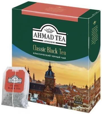 Чай AHMAD (Ахмад) Classic Black Tea, черный, 100 пакетиков с ярлычками по 2 г, 1665 ae81 free shipping 250g premium real chinese tea famous black tea brand jingjinmei kongfu black tea