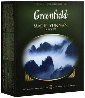 """Чай GREENFIELD (Гринфилд) """"Magic Yunnan"""" (""""Волшебный Юньнань""""), черный, 100 пакетиков в конвертах по 2 г, 0583-09"""