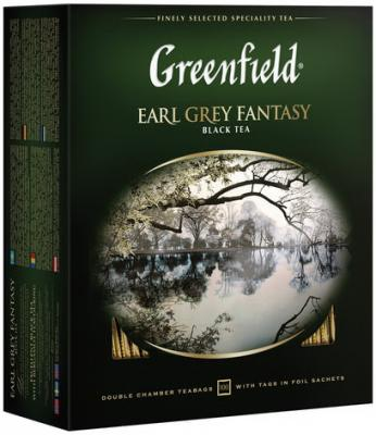 Фото - Чай GREENFIELD (Гринфилд) Earl Grey Fantasy, черный с бергамотом, 100 пакетиков в конвертах по 2 г, 0584-09 greenfield earl grey fantasy черный листовой чай 200 г