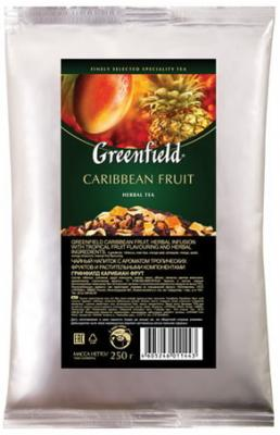 Чай GREENFIELD (Гринфилд) Caribbean Fruit, фруктовый, манго/ананас, листовой, 250 г, пакет, 1144-15 штатив bosch bt 250 0 601 096 a00